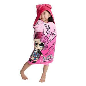 L.O.L. Surprise! Soft Cotton Hooded Bath Towel Wrap
