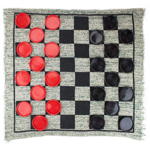 MIDWAY MONSTERS Giant 3-in-1 Checkers and Mega Tic-Tac-Toe with Reversible Rug