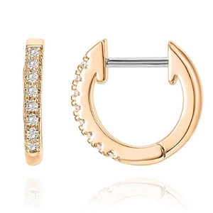 PAVOI Cuff Earrings Huggie Stud