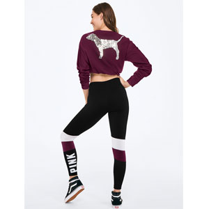 PINK Color Blocked Leggings
