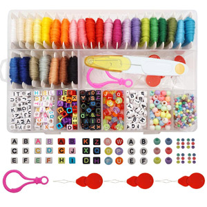 Peirich Friendship Bracelet Making Beads Kit