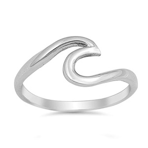Sac Silver Wave Ring
