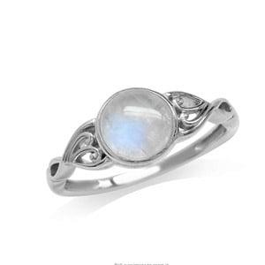Silvershake Natural Moonstone Ring