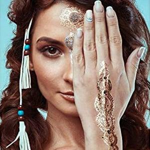 Tatouages temporaires au henné métallisé Boho