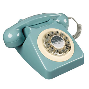 Wild and Wolf Rotary Retro Landline Phone