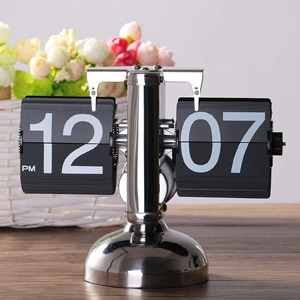 WoneNice Retro Digital Flip Down Clock