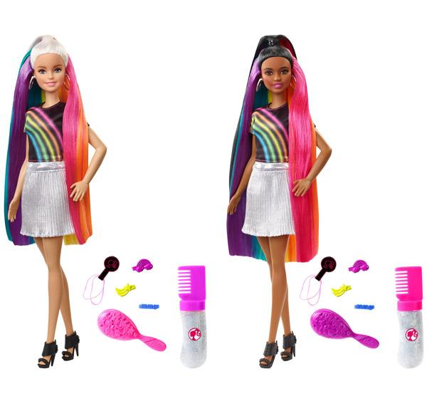 Barbie Rainbow Sparkle Hair Assortment