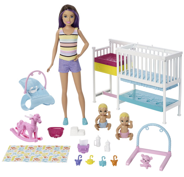 Barbie Skipper Babysitters INC Nursery Playset