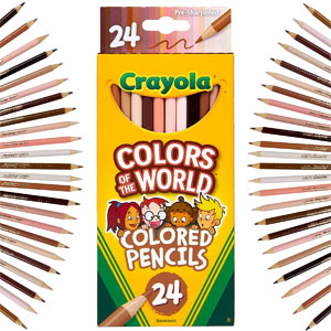 Crayola Colors of the World Colored Pencils, 24 Ct