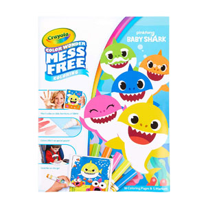 Crayola Color Wonder Mess Free Coloring Pinkfong Baby Shark