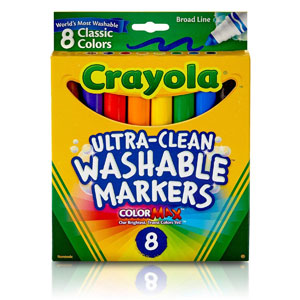 Crayola Ultra-Clean Washable Markers, 8-Ct