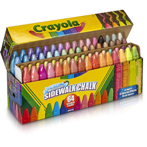 Crayola Washable Sidewalk Chalk, 64-Ct