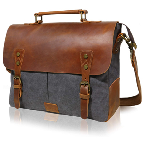 Lifewit Leather Vintage Canvas Laptop Bag