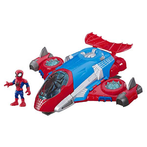 Marvel Super Hero Adventures Spider-Man Jetquarters