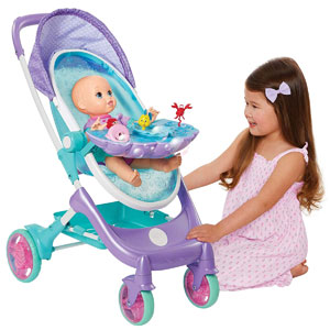 My Disney Nursery Musical Bubble Doll Stroller