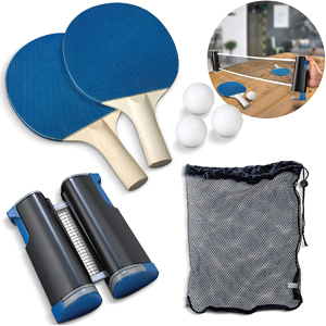 Sharper Image 7-Pc Retractable Tabletop Tennis Game Set