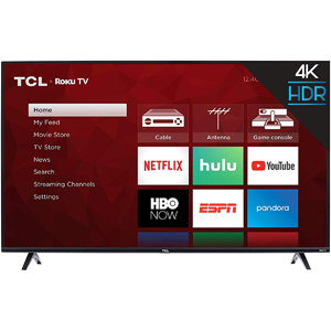 "TCL 50S425 50"" 4K Smart LED Roku TV (2019)"