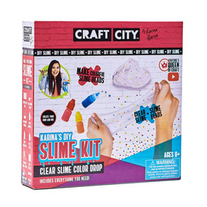 Craft City Karinas DIY Slime Kit Clear Slime Color Drop