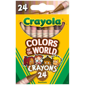 Crayola Colors of the World Crayons, 24-Ct