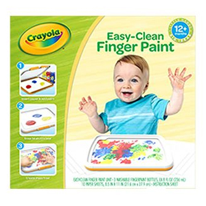 Crayola Easy-Clean Finger Paint