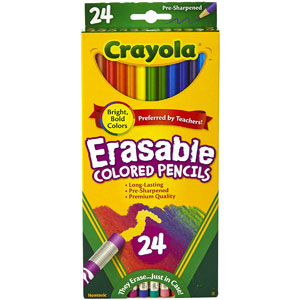 Crayola Erasable Colored Pencils, 24-Ct