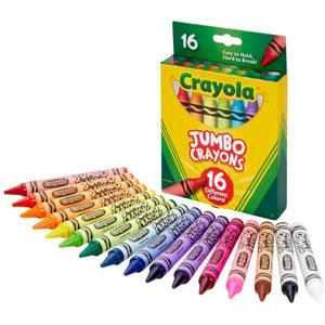 Crayola Jumbo Crayons, 16-Ct