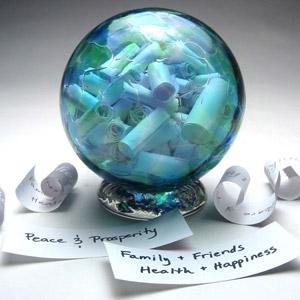 Handblown Wishing and Gratitude Globe