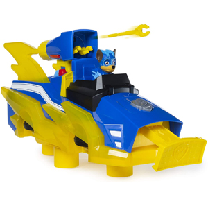 PAW Patrol Mighty Charged Up - Chase Charged Up Transforming Vehicle