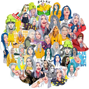 Billie Eilish Vinyl Stickers