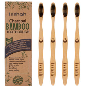 Biodegradable Bamboo Charcoal Toothbrushes