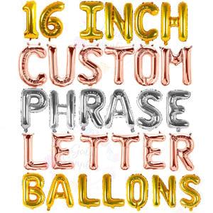 Custom Letter Balloons