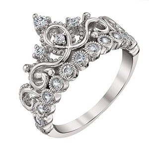 Guliette Verona Princess Crown Ring