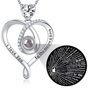 I love you necklace 100 different languages