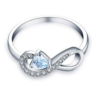 JO WISDOM Infinity Heart Promise Rings