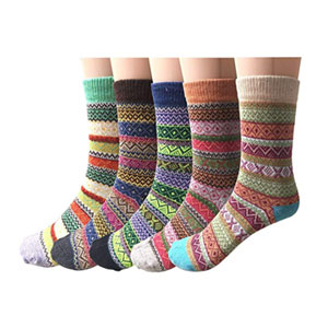 Justay Fuzzy Wool Socks (Pack of 5)