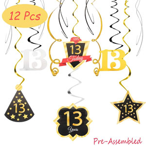 LINGTEER 13 Birthday Decorations