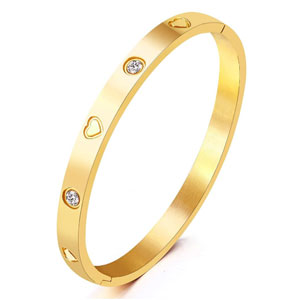 MVCOLEDY Gold Plated Bangle Bracelet