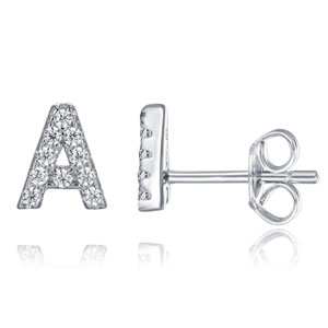 PAVOI Initial Stud Earrings