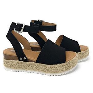 SODA Womens Topic Espadrille Sandal