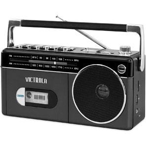 Victrola Boombox with Cassette Player