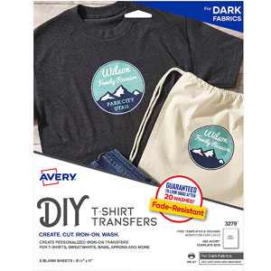 Avery Printable Heat Fabric Transfer Paper