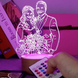 Custom Photo 3D Lamp with Bluetooth
