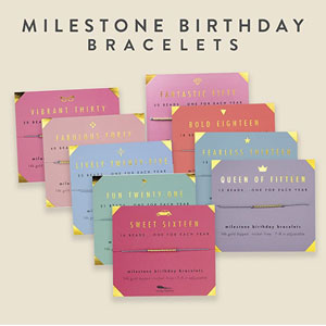 Lucky Feather Milestone Birthday Bracelet