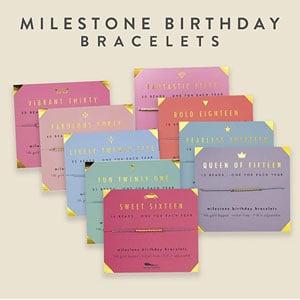 Lucky Feather Milestone Birthday Bracelet