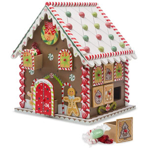 Wooden Gingerbread House Countdown to Christmas Advent