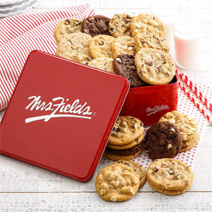 Mrs. Fields Cookies Signature Cookie Tin, 24 Ct.