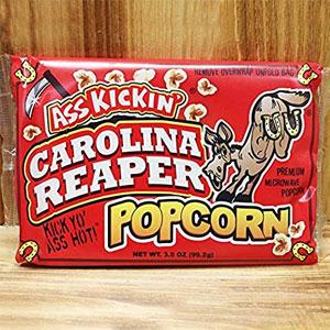ASS KICKIN' Carolina Reaper Pepper Popcorn