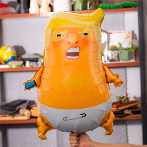 Angry Baby Trump Foil Balloons