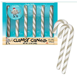 Clam Candy Canes