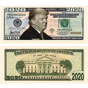 Donald Trump 2020 Presidential Dollar Bill
